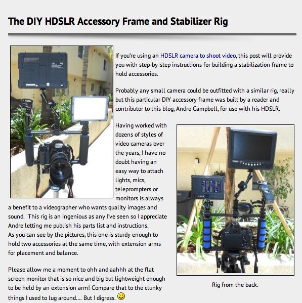 Diy Dslr Camera Rig: Michael Andrew Photography Blog