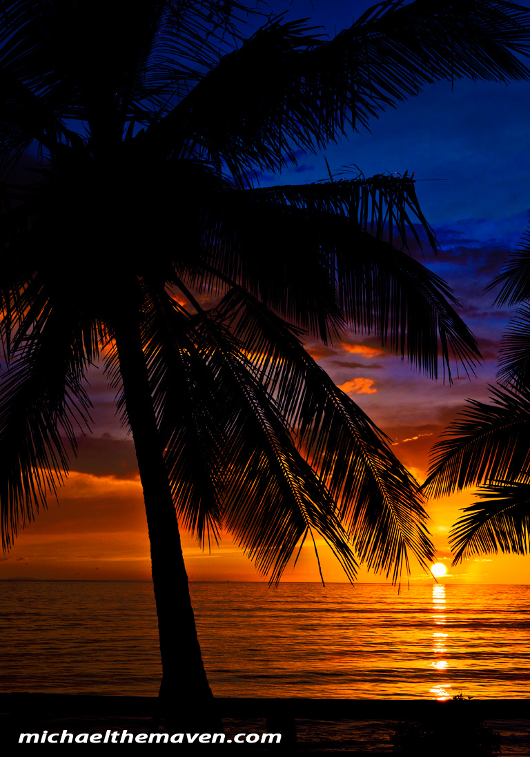 maui sunset - ipad screen saver - michael andrew photography blog