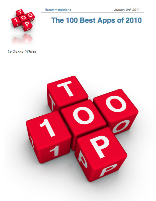 Contract Maker Pro Selected as a Top 100 App of 2010